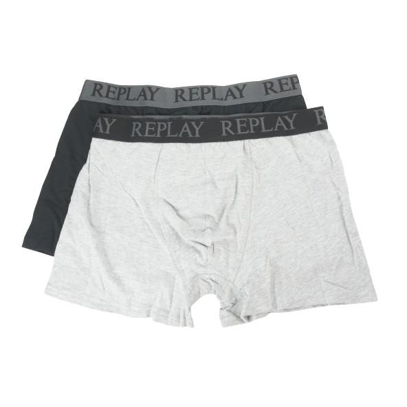 Replay I101143 N088 boxer γκρι-μαύρο
