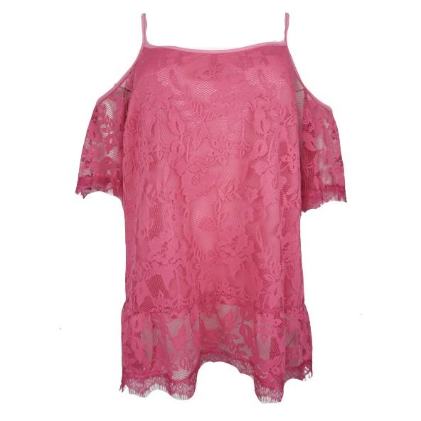 Queen fashion 180577 μπλούζα φούξια