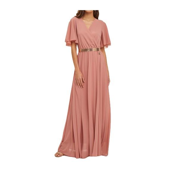 Lynne 046-511012 φόρεμα σαπιο μήλο