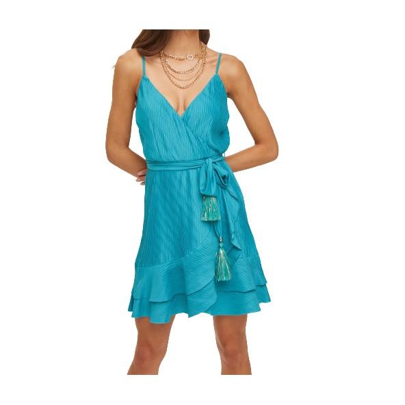 Lynne 045-011017 φόρεμα τυρκουαζ