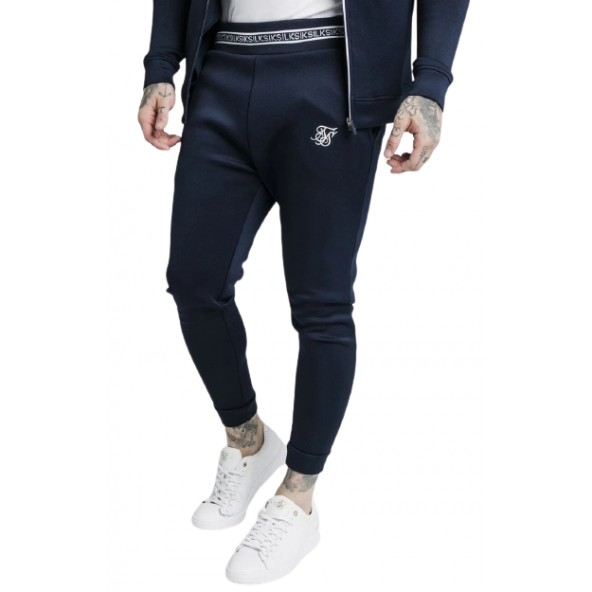 SikSilk SS-17290 ELEMENT MUSCLE FIT CUFF JOGGER NAVY