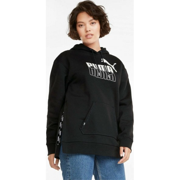 Puma 589540-01 POWER Elongated Women's Hoodie Black