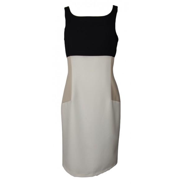 Innocent S16.9403 DRESS BLACK/WHITE/BEIGE