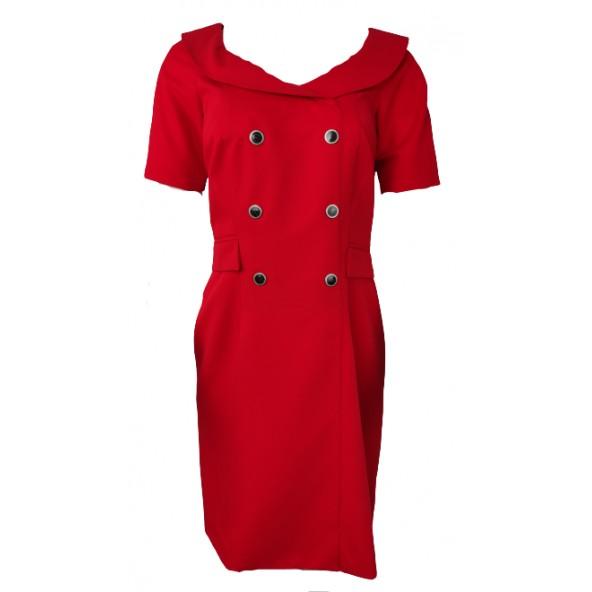 Passager 75025 dress red