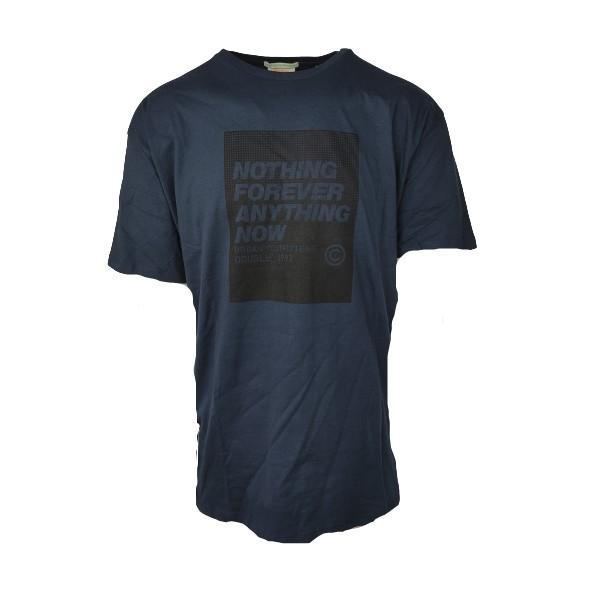 Double TS-165A T-Shirt Graphic Print Lt. NAVY