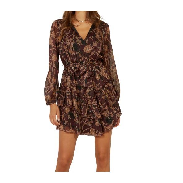 Lynne 146-511043 φόρεμα δαμασκηνί