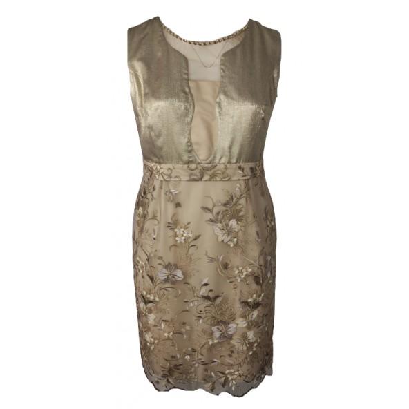 Vagias 1603-134 φόρεμα χρυσό