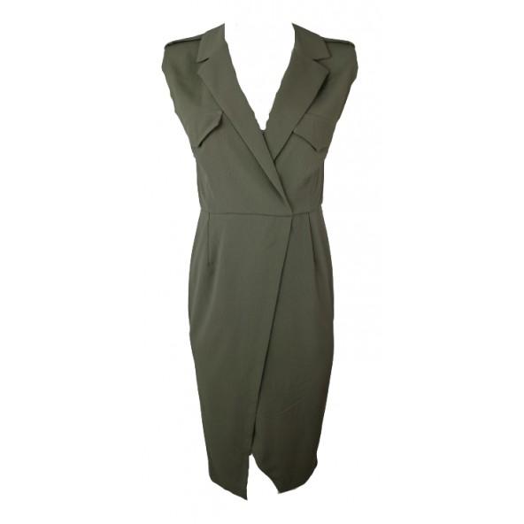 Lynne 146-511031 φόρεμα χακι