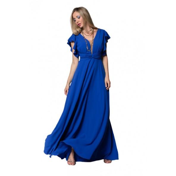 Cecilia A21C234 φόρεμα μπλε ρουά