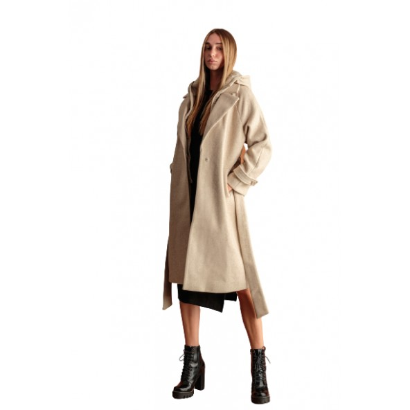 Biston 46-101-047 παλτό μπεζ