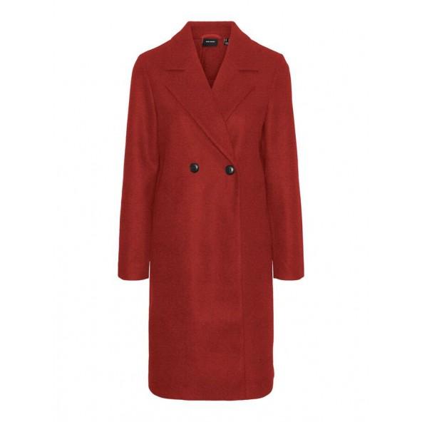 Vero moda 10248236 παλτό chili oil