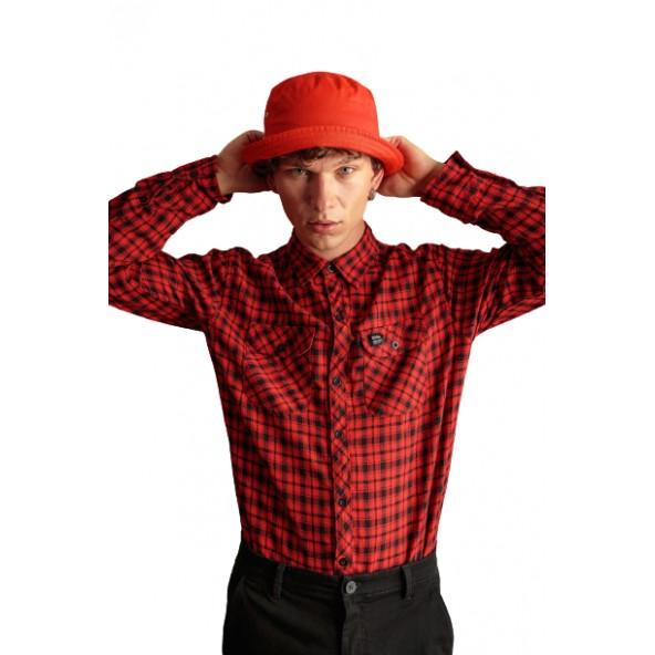 Biston 46-203-004 πουκάμισο καρό κόκκινο