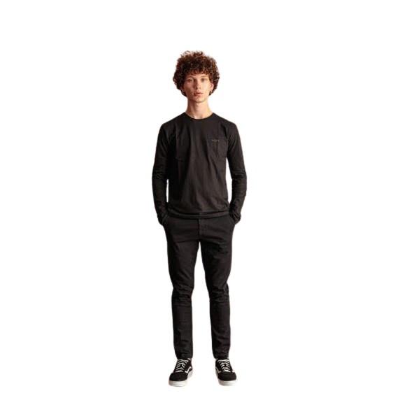 Biston 46-241-015 παντελόνι chinos μαύρο