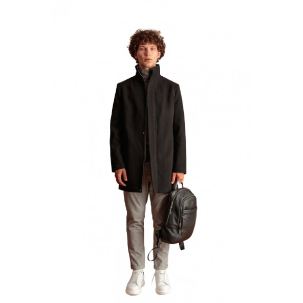 Biston 46-201-010 παλτό μαύρο