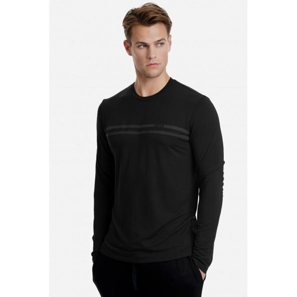Walk W5156-1 μπλούζα μαύρη