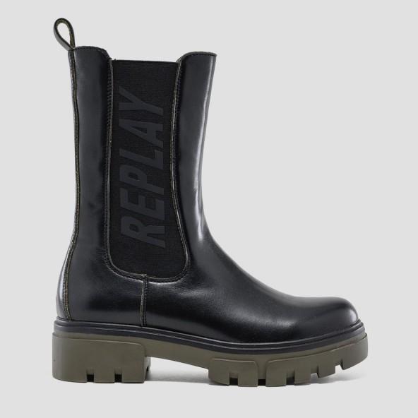 Replay RL620011S 1659-BLACK MIL GRN μπότες