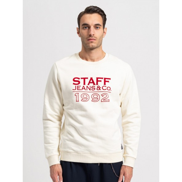 Staff 64-105.046.Ν0024 Frank Sweat Crew Neck off white