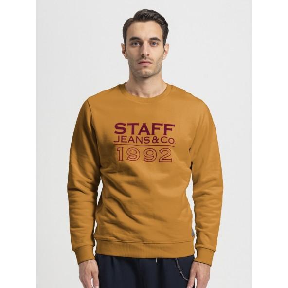 Staff 64-105.046.Ν9910 Frank Sweat Crew Neck mustard